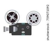 movie camcorder technology | Shutterstock .eps vector #759071092
