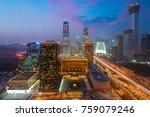 high angle view of beijing... | Shutterstock . vector #759079246