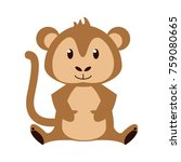 cute monkey cartoon icon vector ... | Shutterstock .eps vector #759080665