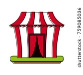 circus carnival tent | Shutterstock .eps vector #759085036
