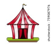 circus carnival tent | Shutterstock .eps vector #759087976