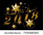 vector 2018 happy new year...   Shutterstock .eps vector #759088585