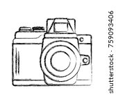 vintage photographic camera...   Shutterstock .eps vector #759093406
