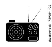 vintage radio stereo icon... | Shutterstock .eps vector #759094402