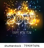 happy new year 2018 triangle... | Shutterstock . vector #759097696