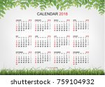 calendar 2018 background with... | Shutterstock .eps vector #759104932