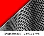abstract silver circle mesh... | Shutterstock .eps vector #759111796