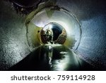 sewer tunnel worker in special... | Shutterstock . vector #759114928