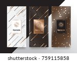 vector set packaging templates... | Shutterstock .eps vector #759115858