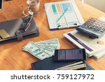 business and finance concept of ... | Shutterstock . vector #759127972