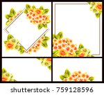 invitation with floral... | Shutterstock .eps vector #759128596