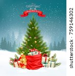 christmas holiday background... | Shutterstock .eps vector #759146302