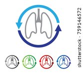 lung health service logo | Shutterstock .eps vector #759146572