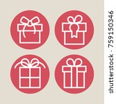 holiday and gift vector icons.   Shutterstock .eps vector #759150346