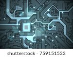 high tech electronic circuit... | Shutterstock .eps vector #759151522