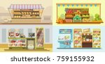 shop counters or store... | Shutterstock .eps vector #759155932