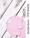 newborn girl cute striped...   Shutterstock . vector #759156652