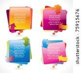 colorful glossy vector speech... | Shutterstock .eps vector #75915676