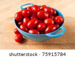 Tiny Cherry Tomatoes Washed In...