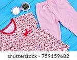toddler girl summer clothes... | Shutterstock . vector #759159682