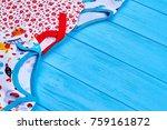 childs summer cotton wear....   Shutterstock . vector #759161872