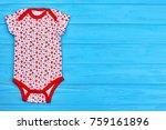 infant girl cute cotton...   Shutterstock . vector #759161896