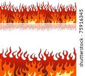 An Image Of A Set Of Flame Fir...