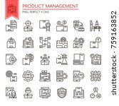 product management   thin line... | Shutterstock .eps vector #759163852