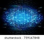 binary circuit board future... | Shutterstock .eps vector #759167848