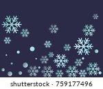 snowflake macro vector... | Shutterstock .eps vector #759177496