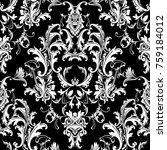 beautful baroque damask... | Shutterstock .eps vector #759184012