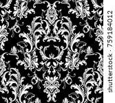 beautful baroque damask... | Shutterstock .eps vector #759184012