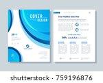 annual report  broshure  flyer  ... | Shutterstock .eps vector #759196876
