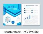 annual report  brochure  flyer  ... | Shutterstock .eps vector #759196882