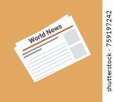 newspaper news. vector... | Shutterstock .eps vector #759197242