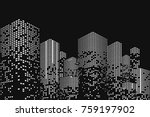 building and city illustration. ... | Shutterstock .eps vector #759197902