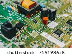 detail of an electronic printed ... | Shutterstock . vector #759198658