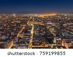 mexico city at night. | Shutterstock . vector #759199855