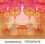 mid autumn festival for chinese ... | Shutterstock . vector #759209476