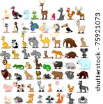 extra large set of animals...   Shutterstock .eps vector #75921073