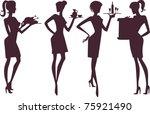 Waitresses Silhouettes