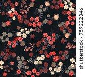 simple cute pattern in small... | Shutterstock .eps vector #759222346