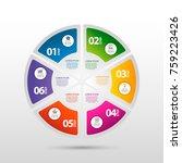 infographics circular vector... | Shutterstock .eps vector #759223426