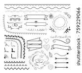 big set of decorative elements. ... | Shutterstock .eps vector #759229066