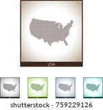 map of usa | Shutterstock .eps vector #759229126