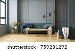 vintage modern  interior of... | Shutterstock . vector #759231292