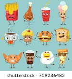 cartoon funny food characters... | Shutterstock .eps vector #759236482