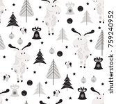 Seamless Pattern With Moose ...