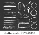 chalk graphic elements... | Shutterstock .eps vector #759244858