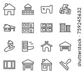 thin line icon set   home ... | Shutterstock .eps vector #759245632